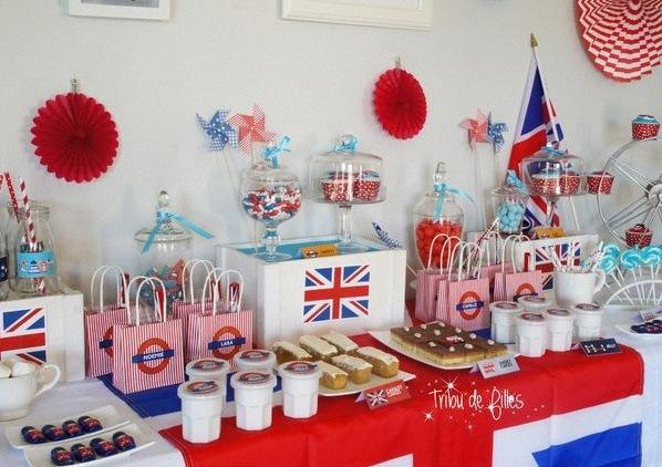anniversaire sur le thème Londres