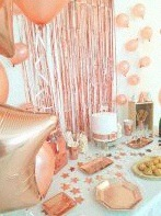 décoration de Nouvel An rose gold