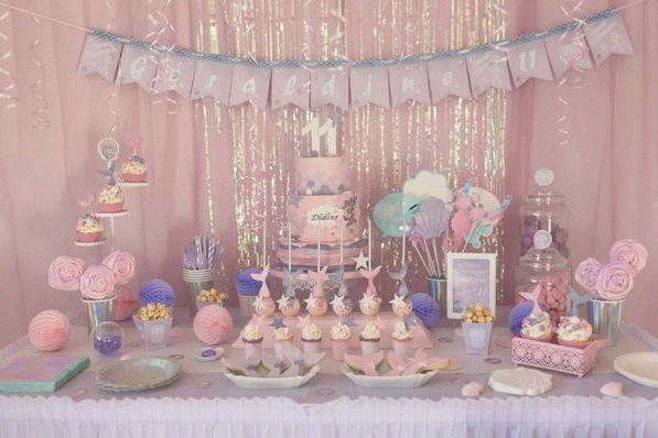 sweet table anniversaire sirène