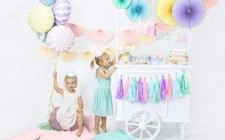 Joli thème d'anniversaire : Pastel et doré