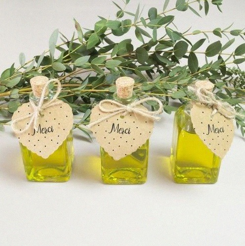 fiole huile d'olive mariage