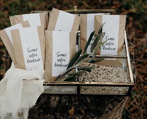 graines à planter mariage