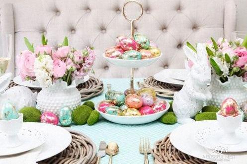 décoration table paques