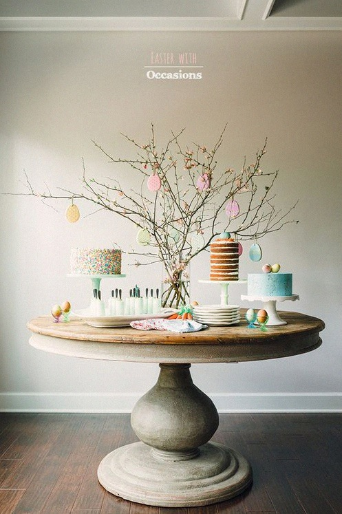 sweet table paques