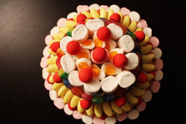 gâteau de bonbons haribo