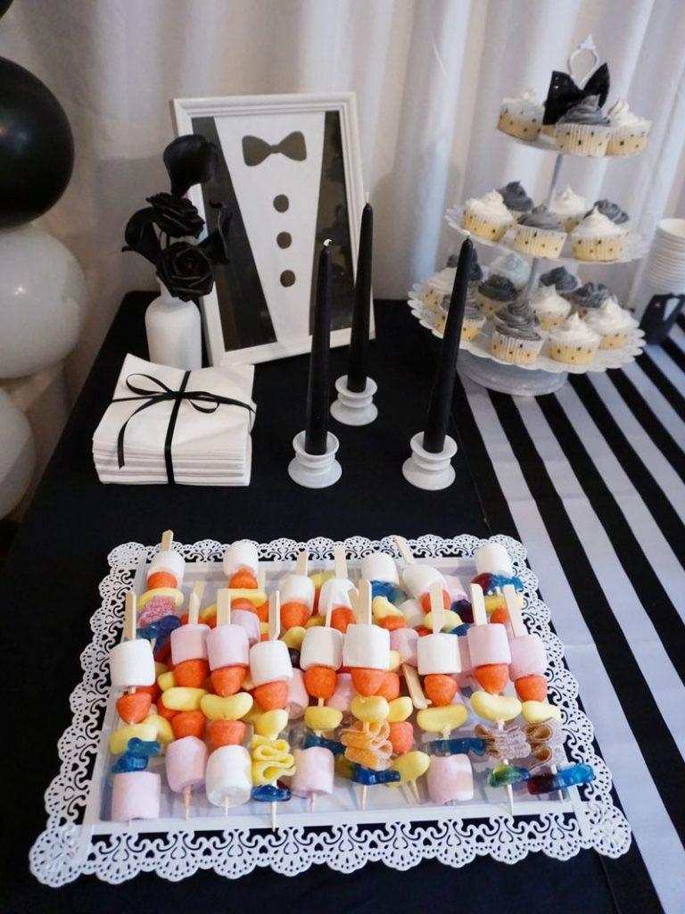 anniversaire noir et blanc